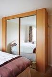 Schlafzimmer im BRITISCHEN Haus Stockfoto