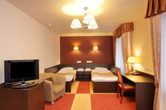 Schlafzimmer im Hotel Stockfotografie