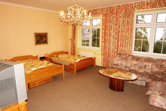 Schlafzimmer im Palasthotel Lizenzfreies Stockfoto