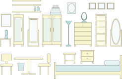 Schlafzimmer-Möbel lizenzfreie abbildung