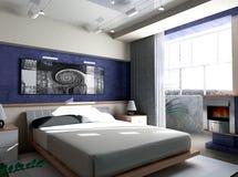 Schlafzimmer morgens Stockbild