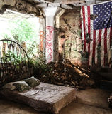 Schlafzimmer-Ruinen Lizenzfreie Stockbilder