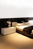 Schlafzimmer Sepia lizenzfreie stockbilder