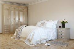 Schlafzimmer in weichem colors1 Lizenzfreies Stockfoto