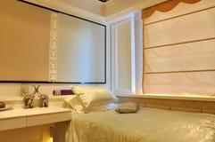 Schlafzimmerdekoration und -verzierungen Stockfoto
