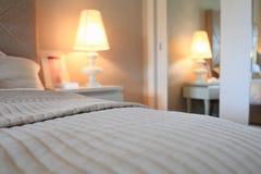 Schlafzimmerdetail Stockfotos