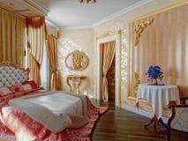 Schlafzimmerinnenraum lizenzfreie abbildung