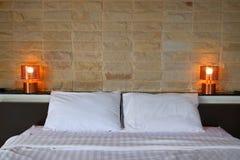 Schlafzimmerinnenraum des modernen Designs Lizenzfreies Stockfoto
