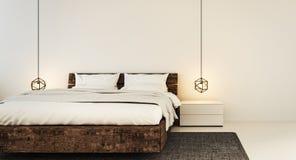 Schlafzimmerinnenraum für modernes Ausgangs- und Hotelschlafzimmer Stockbild