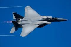 Schlag-Adlerflugzeuge Boeing-F-15E Lizenzfreie Stockfotos