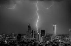 Schlag auf Frankfurt Lizenzfreies Stockfoto