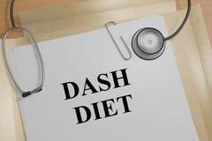 Schlag-Diät - medizinisches Konzept stock abbildung