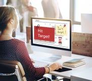 Schlag-Ziel-Zeitplan-Organisator Plan Concept Stockfotografie