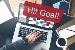 Schlag-Ziel-Ziel-Ziel-Aspirations-Firmenkunde-Konzept Stockbilder