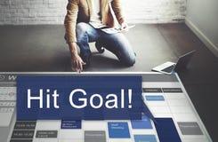 Schlag-Ziel-Ziel-Ziel-Aspirations-Firmenkunde-Konzept Lizenzfreie Stockfotos