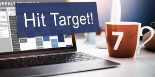 Schlag-Ziel-Ziel-Ziel-Aspirations-Firmenkunde-Konzept Stockfotografie