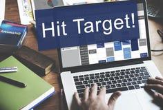 Schlag-Ziel-Ziel-Ziel-Aspirations-Firmenkunde-Konzept Lizenzfreie Stockfotografie