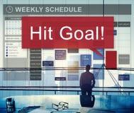 Schlag-Ziel-Ziel-Ziel-Aspirations-Firmenkunde-Konzept Stockfoto