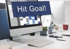 Schlag-Ziel-Ziel-Ziel-Aspirations-Firmenkunde-Konzept Lizenzfreies Stockfoto