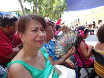 Schlagen der Hitze in Merida Yucatan lizenzfreies stockfoto
