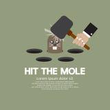 Schlagen Sie das Mole-Spaßspiel Stockbilder