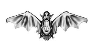 Schlagen Sie die Illustration des Vampirs 3D, die auf weißem Hintergrund lokalisiert wird lizenzfreie abbildung