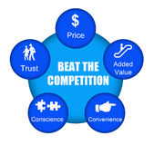 Schlagen Sie die Konkurrenz stock abbildung