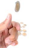 Schlagen Sie die Münze leicht Lizenzfreie Stockbilder