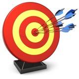 Schlagen Sie ein Ziel (Mieten) Stockbild