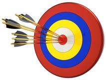 Schlagen Sie Prozent eines Ziels 100 (Mieten) Lizenzfreies Stockbild