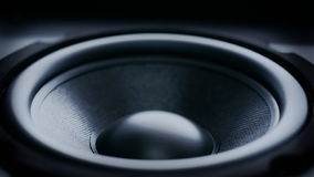 Schlagen von Bass Audio Speaker stock video