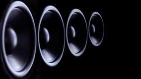 Schlagen von Bass Audio Speakers stock footage