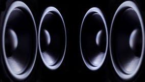 Schlagen von Bass Audio Speakers stock video footage