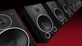 Schlagen von Bass Speakers vektor abbildung