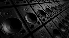 Schlagen von Bass Speakers Wall stock footage
