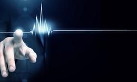 Schlagende Rate des Herzens Lizenzfreie Stockbilder