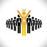 Schlagender Wettbewerb des Unternehmensangestellten - Erfolgsvektorkonzept vektor abbildung