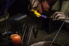 Schlagglas auf eine traditionelle Art Stockfotos
