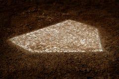 Schlagmal-Baseballspielergebnis im Spiel lizenzfreie stockfotos
