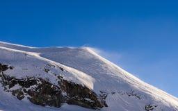 Schlagschnee im Berg von Bormio, Nord-Italien Lizenzfreies Stockfoto