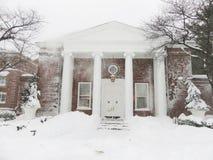 Schlagschnee während des Blizzards Stockfotografie