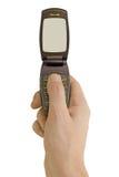 Schlagtelefon in der Hand Lizenzfreie Stockfotografie