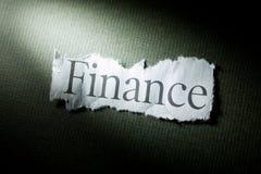 Schlagzeilen-Finanzierung stockfotos