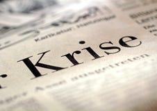 Schlagzeilen-Krise Lizenzfreies Stockfoto