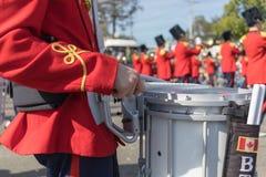 Schlagzeuger in der Blaskapelle Lizenzfreies Stockbild
