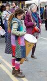 Schlagzeuger am Löschungs-Aufstands-Straßenfest stockfotos