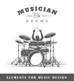 Schlagzeuger spielt die Trommeln Lizenzfreie Stockfotografie