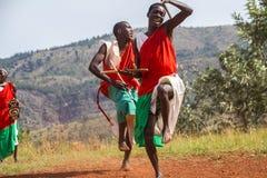 Schlagzeuger von Burundi Stockbild