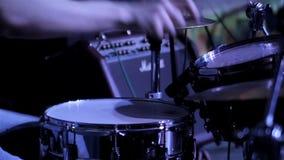 Schlagzeugernahaufnahme stock video footage