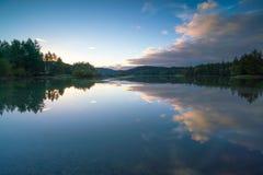 Schlamm-Bucht-Abend-Sonnenuntergang Olympia Washington stockfoto